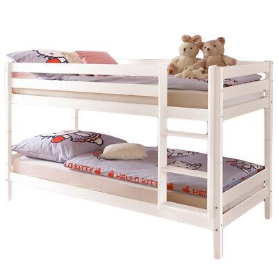Kinderbett teilbar Etagenbett Hochbett Spielbett Kinderzimmer Stockbett weiß