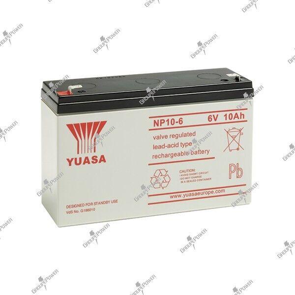 Battery toy electric lead watertight YUASA NP10-6 6V 10AH 151X50X97.5