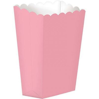 5pk Baby Pink Small Popcorn Favour Box Retro Vintage Candy Buffet Party Bag](Baby Candy Buffet)