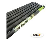 NEW NGT CARP BASHER 11M Full Carbon Carp Fishing Pole + Spare Top 3 (NOT ELASTICATED)