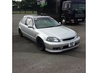 Honda Civic EK4 Track Car Breaking