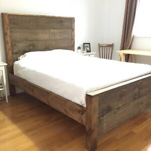 Rustic Queen Bed Frame
