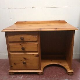 Small pine dressing table/desk