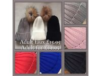 Wholesale job lot fur and Faux fur hats and gloves