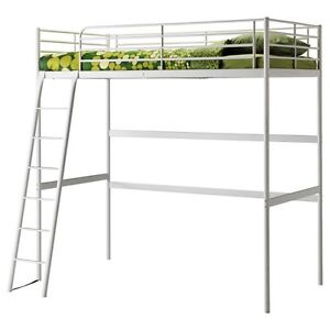 IKEA TWIN LOFT BED - WHITE