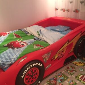 Lightning McQueen toddler car bed with spring box
