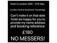 LONDON HOTEL BANK HOLIDAY