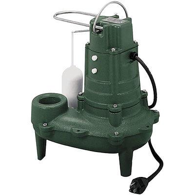 Zoeller M267 - 12 Hp Cast Iron Sewage Pump 2 W Vertical Float 25 Cord
