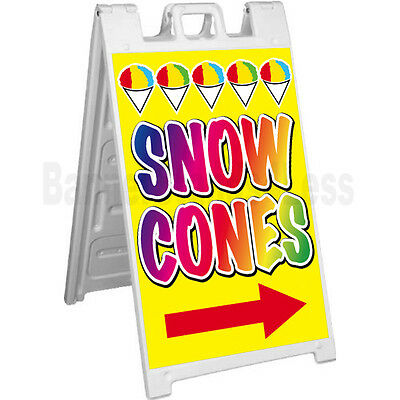 Signicade A-frame Sign Sidewalk Sandwich Pavement Concession Sign - Snow Cones