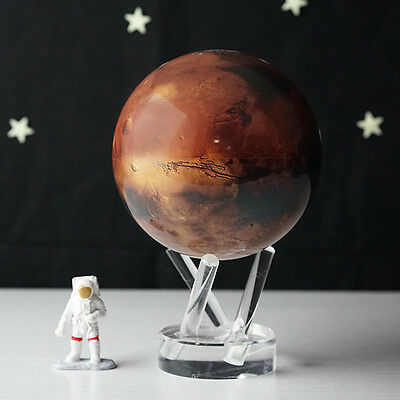 "MOVA Globe Mars 4.5"" Globe with Acrylic Base Auto-Rotate Space Planet Desk Gift"