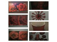 Red home decor 7 items