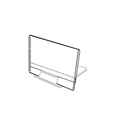 Set Of 20 Stand Alone Price Label Holders With Label Inserts 2.5x3.4 6.5x8.5cm