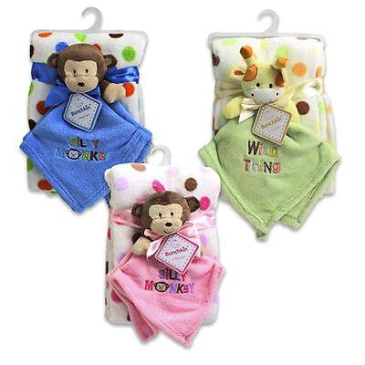 Baby Infant Lovey Blanket Gift Set Security Blanket + Plush