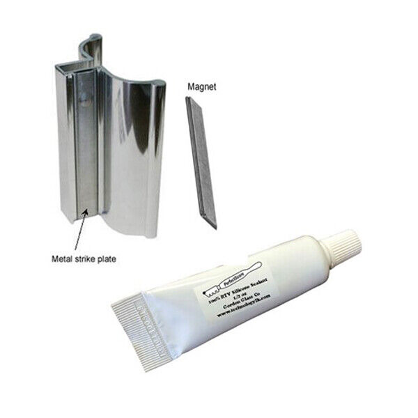 """3"""" Bright Chrome Frameless Shower Door Handle with Magnet/Si"""