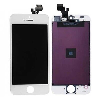 Replacement Glass Digitizer + LCD Touch Screen Frame Assembly White for iPhone 5 on Rummage