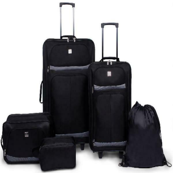Protege 5 Piece 2-Wheel Luggage Value Set, Includes Check And Carry On Size - $85.95