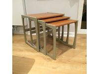 Upcycled Mid-Century Side Tables Set