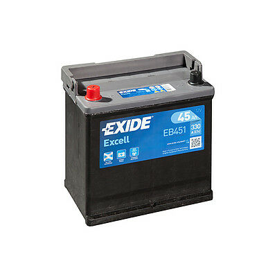 1x Exide Excell 45Ah 330CCA 12v Type 049 Car Battery 3 Year Warranty - EB451