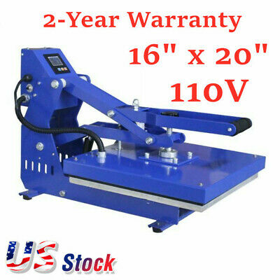 110v Auto Open Heat Press Machine Horizontal Version 16 X 20 Usa Stock