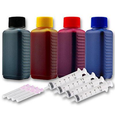 Ml Gelb Tintenpatrone (400ml Drucker Tinte Nachfüllset für HP Envy 5030 DeskJet 2620 2630 3700 MFP)