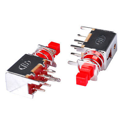 10x Red Push Button Switch 6 Pins Latching Dpdt Tact Tactile Self-lockingdpdt