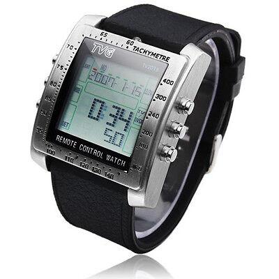 TV/DVD Remote Control Watch Stainless Steel Multifunction Digital