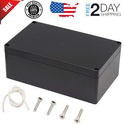 Waterproof Plastic Project Box Abs Enclosure 7.87 X 4.72 X 2.95 Inch Black New