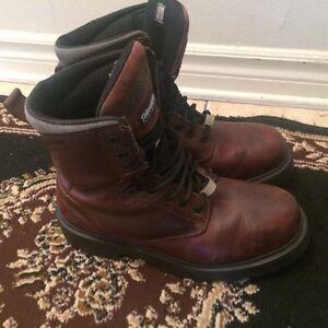 Chaussure de Securite avec Cap d'acier de vrai cuir size 10,5