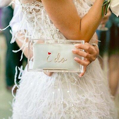 New Charlotte Olympia Marry Me Pandora Bridal Wedding Clutch Purse Retail  990