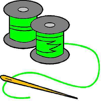 30 Custom Green Sew Art Personalized Address Labels