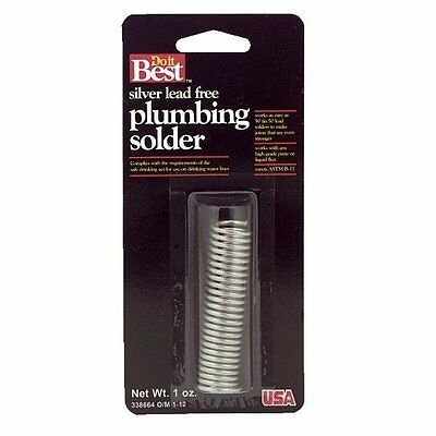 Silver Lead-free Plumbing Solder - 0.084 Gage - 1 Oz - Free Shipping