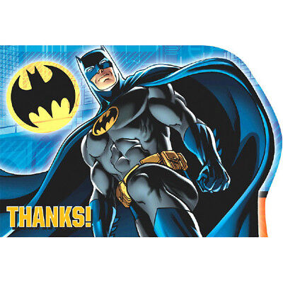 Batman Thank You Cards 8 Post Card Birthday Party Favor Party Supplies