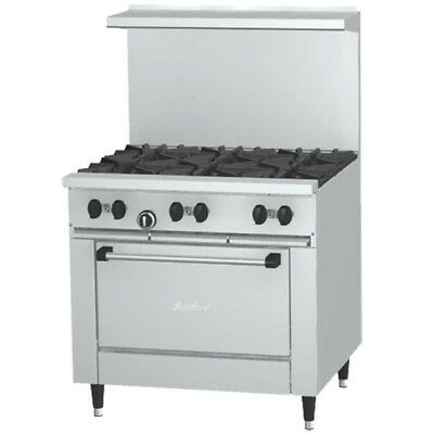 Garland Sunfire X36-6r X Series 36 Gas Restaurant Range With 6 Burners Oven