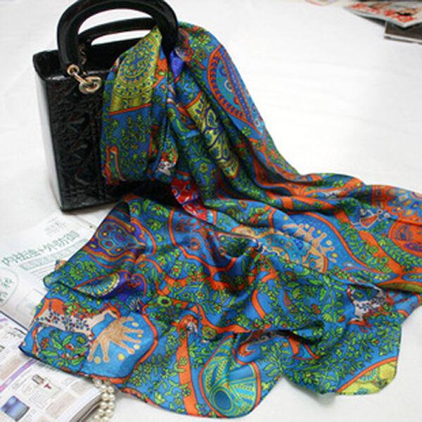 Seidentuch Seidenschal  tuch schal scarf shawl 100% Seide silk NEU 180CMx110CM