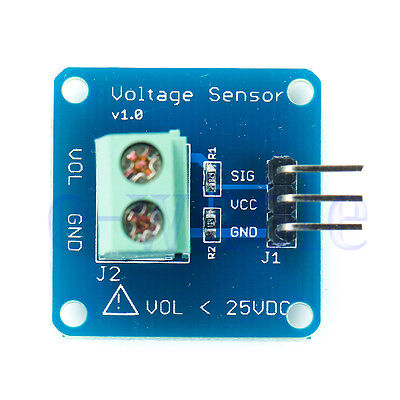 Dc Voltage Sensor Module Voltage Detector Divider For Arduino Hm