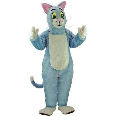 Blue Cat Professional Quality Mascot Costume Adult Size