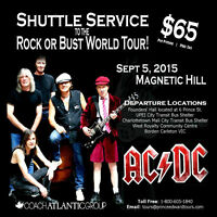AC/DC shuttle bus to Moncton and return