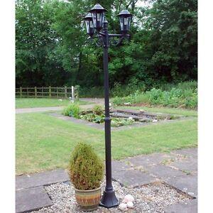 garden lamp post. Victorian Outdoor Triple 3 Head Garden Pathway Path Lamp Post Light Lamppost T