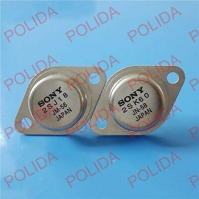 1pair Audio Transistor Sony To-3 2sj182sk60 J18k60 100 Genuine And New