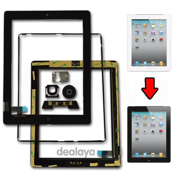 For iPad 2 Black Touch Screen Digitizer Mid Frame Bezel Replacement Part
