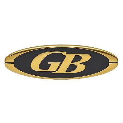 Glacier Bay Gold / Black 7 7/8 Plastic Boat Adhesive Emblem / Decal (Single)