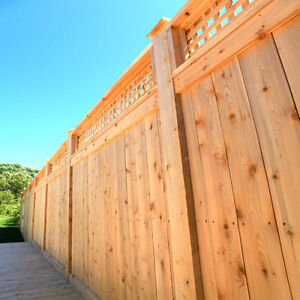 Cedar fence and deck kits