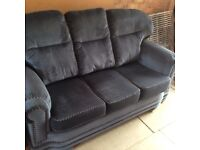 Sofa and Arm Chair 2 Piece Suite Blue