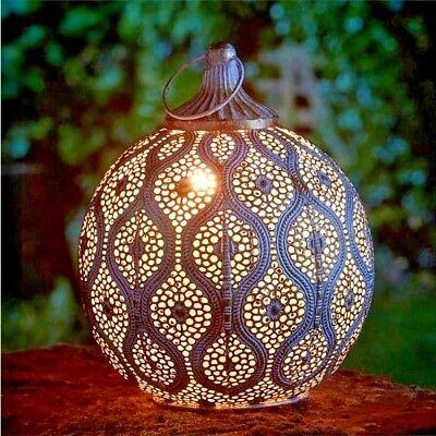 Metal Que Cuelga Farol de velas Oro Antiguo Estilo Egipcio exterior jardín casa, usado segunda mano  Embacar hacia Argentina