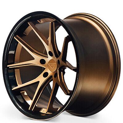 "4ea 20x9/20x10"" Ferrada Wheels FR2 Matte Bronze with Gloss Black Lip(S4)"