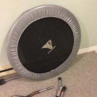 Small exercise trampoline.