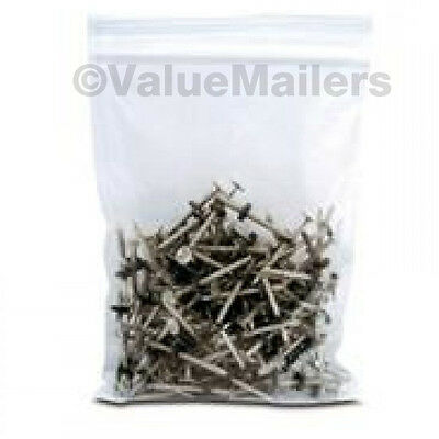 1000 6x9 Clear Plastic Zipper Poly Locking Reclosable Bags 2 Mil