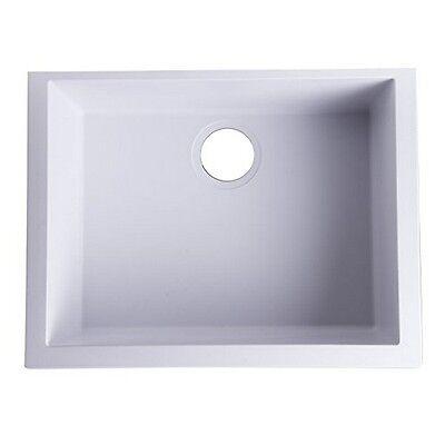 "Whitehaus  Undercount Single Bowl Granite Composite Kitchen Sink-24""-White NEW"