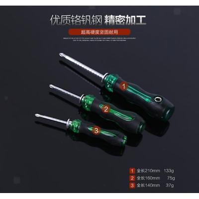 Multi Purpose Magnetic Tip Screwdriver Hand Grip Slot Cross Head DIY Tool - Hand Multi Tip