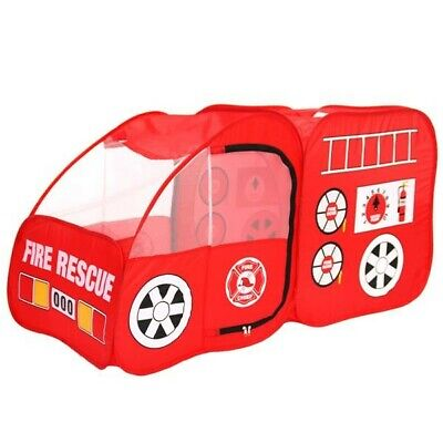 Fire Engine Design Folding Portable Playpen Tent Play Yard Red Toys For Kids